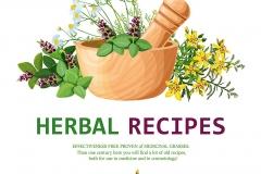 Medicinal Herbs In Mortar Illustration,Medicinal Herbs In Mortar Illustration